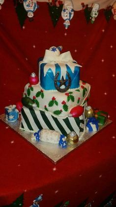 Our holiday cake