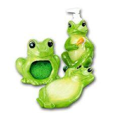 FROG 3D Ceramic Kitchen 4 pcs Set Froggy Frogs