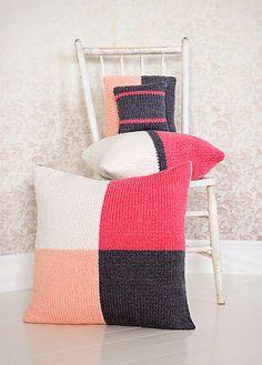 Spud & Chloe 4 Square Pillows Knitting Pattern + Free Shipping!
