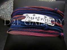 Free spirit silk wrap bracelet by D2E Gallery