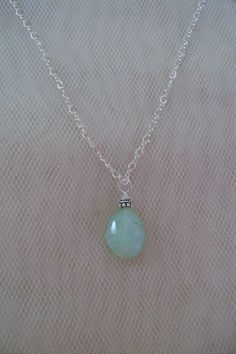 Simple Peruvian Opal Necklace by smisko on Etsy, $44.00