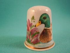 Thimble Bone China with Duck and Flower by EgiArt on Etsy