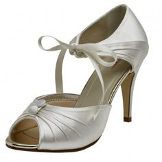 e1811d41a83 Nancy by Rainbow Club Ivory Dyeable or White Satin Wedding or Occasion Shoes  Dyeable Wedding Shoes