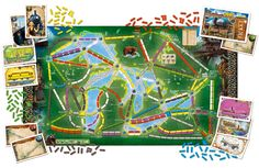 Ticket to Ride Rails & Sails The Great Lakes Map Puzzle Games For Kids, Puzzles For Kids, Games To Play, Ticket Card, Ticket To Ride, Popular Kids Toys, Game Tickets, Travel Cards, Oceans Of The World