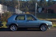 1985 VW golf, 7th owned. look just like this but lower to the ground.