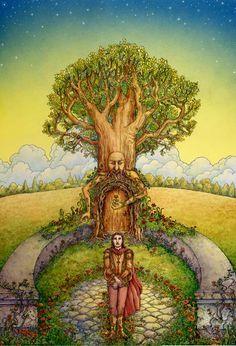The Door Beyond by cgb30.deviantart.com on @DeviantArt Powerful Art, Star Cloud, Tree Illustration, Fairytale Art, Green Man, Old Pictures, Faeries, Amazing Nature, New Art
