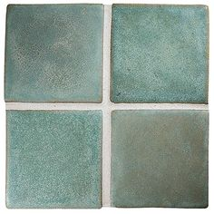 "Complete Tile Collection Prodigy Ceramic Tile, Verdigris - 3"" x 3""  Field Tile, MI#: 018-C1-316-020, Color: Verdigris"
