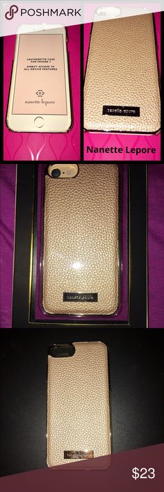 Nanette Lepore iPhone 7 Case iPhone 7 Nanette Lepore Leatherette gold trim accents, Direct Access To All Device Features, NWTB. Nanette Lepore Accessories Phone Cases