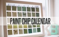 A great DIY project to start off the new year! Reusable paint chip calendar. WHERE YOU CAN FIND US: www.thesorrygirls.tumblr.com www.pintrest.com/thesorrygir...
