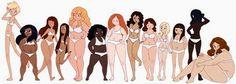 tipos de cuerpos femeninos - Buscar con Google                                                                                                                                                     Más