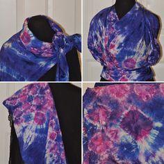 44x44 shibori dyed silk habotai scarf Dyed Silk, Shibori, Decorative Items, Alexander Mcqueen Scarf, Handmade Items, My Etsy Shop, How To Make, Shopping, Accessories