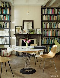 I like the combination of design eras... plus all the books via I Love Your Style