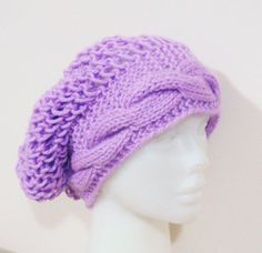 spring fashion Hand knit slouchy beanie hat by earflaphats on Etsy, $25.00