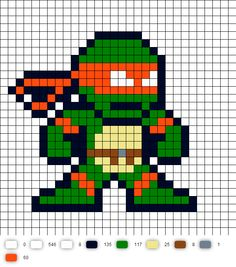 TMNT Perler Bead Pattern-just change colors