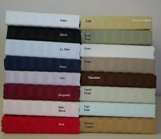 With Love Home Decor - R-T™ 600 Thread Count Egyptian Cotton Stripe Split King Sheet Set
