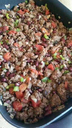 Grass fed beef or ground turkey chili...looks tasty (21 Day Fix Recipe)
