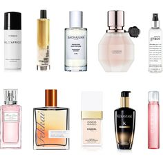 Hair Perfumes by huffpostbeauty on Polyvore featuring beauty, philosophy, Viktor & Rolf, Fekkai, Sachajuan, Chanel, Christian Dior, Byredo, Kerastase and CLEAN