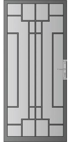 C11 Steel Grill Design, Window Bars, Grill Gate, Door Grill, Painted Front Doors, Steel Security Doors, Iron Windows, Window Grill Design, Wrought Iron Doors