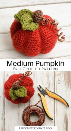 Medium Crochet Pumpkin Pattern - Crochet 365 Knit Too