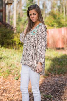 """Bundle Of Boho Blouse, Mocha"" 