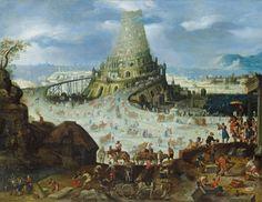 Alte Kunst bei Lempertz: Von den Niederlanden bis zum Vesuv. Hier der Turmbau zu Babel. Pfingsten ist als Gott den Fluch von Babel wieder gut macht.