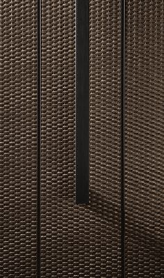Bridge / detail of front of kitchen Concrete Texture, Tiles Texture, Japanese Bar, 3d Wall Tiles, Lift Design, Joinery Details, Burlap Fabric, Fibres, Textured Walls