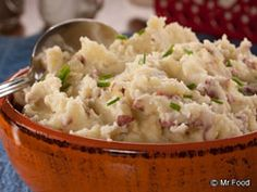 Smashed Potatoes-I do mine with less butter and use some Greek yogurt instead