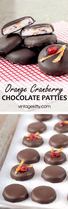 Orange Cranberry Patties-a delicious holiday candy! - Vintage Kitty