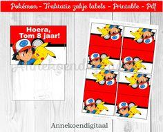 Pokemon traktatie zakje label - traktatie om zelf te knutselen - Pokemon traktatie - Pokemon - Pokemon GO traktatie - Direct printen door FeestelijkePrintable op Etsy