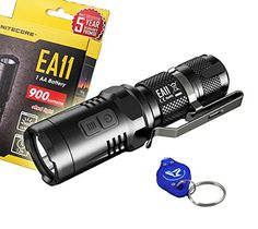 Nitecore EA11 900 Lumens Mini Cree XML2 U2 LED Flashlight with a Lumen Tactical Keychain Light  Using 1 x 14500 or 1 x AA -- Find out more about the great product at the image link.