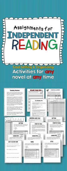Independent Reading: Goal Setting and Assignments.  Lots of lesson plan ideas included that I can use in my own class.