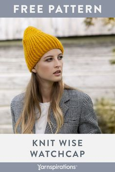 Free Knitted Wise Watchcap in Patons Classic Wool Roving. Keep cozy while looking cool with this classiclly shaped knit watchcap. Knitting Patterns Free, Knit Patterns, Free Knitting, Free Crochet, Free Pattern, Knit Crochet, Crochet Hats, Patons Classic Wool, Knit Beanie