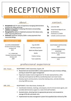 Receptionist Resume Sample & Writing Guide 2019 ---CLICK IMAGE FOR MORE--- resume how to write a resume resume tips resume examples for student Resume Writing Tips, Resume Tips, Writing Guide, Student Resume Template, Resume Template Free, Sample Resume, Templates Free, Job Interview Questions, Job Interview Tips
