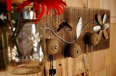 Urban Chic meets Country wall decor with 3  knobs by SplintersAndNails, $39.50