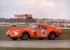 "Winning Ferrari 250 GTO at Daytona 1963 The legendary ""Little Mexican"" Pedro Rodriguez on his way to winning the 1963 Daytona Continental 3-Hour race. He is driving a NART Ferrari 250 GTO. This win would not be the last for Rodriguez as he would go on to win at Daytona in 1964, 1970 and 1971. Photo courtesy of Road & Track"
