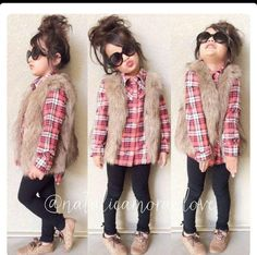 Toddler Girl Fashion Just a child a little older than her but such a cute outfit Little Girl Outfits, Little Girl Fashion, My Little Girl, My Baby Girl, Toddler Outfits, Toddler Dress, Baby Girl Fall Outfits, Kids Outfits Girls, Toddler Girl Style