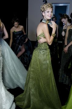 Giorgio #Armani Privé backstage looks OneNightOnlyNyc
