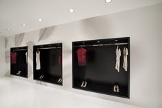 Fashion brand ASOBIO's first storefront shop, a spacious bi-level interior with a generous opening.