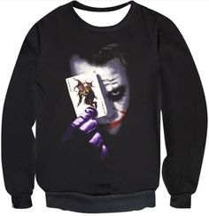 Joker Sweatshirt, Graphic Sweatshirt, T Shirt, Joker Outfit, Joker Clothes, Joker Card, Cotton Pictures, Punk Rock Fashion, Isco