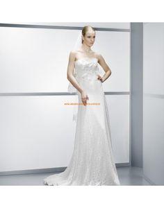Speziale kolumne trägerlose Brautkleider aus Spitze Vestidos de novia - Jesús Peiró