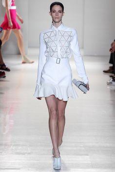 Victoria Beckham, Look #18 love the paneled skirt.