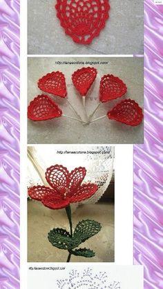 Crochet Flowers Design Flowers pattern * 2 of 3 Irish Crochet Patterns, Crochet Diagram, Crochet Motif, Crochet Designs, Crochet Doilies, Crochet Flowers, Crochet Stitches, Diy Crafts Crochet, Crochet Gifts