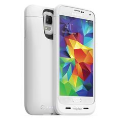 mophie Juice Pack for Samsung Galaxy S5 - White - Powerful 3000 mAh battery case made for Samsung Galaxy S5. Full case protection and up to 100 percent extra battery to keep you connected and equipped for the day ahead.