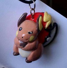 Raichu Pokemon Pendant by squidhop on Etsy