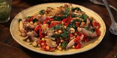 CHICKEN THIGHS WITH CHICKPEAS RECIPE