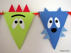 Little Moster pennant banner. $30.00, via Etsy. Yo Gabba Gabba look a like.
