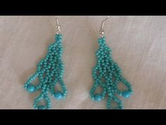 How To Weave Beaded Trim Hanging Earrings - DIY Style Tutorial - Guidecentral - YouTube