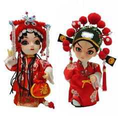 Sterxy Handmade Chinese Folk Doll Figurine of Han Dynasty Empress Chen, Plastic, Pink Wedding Gifts For Bride, Unique Wedding Gifts, Wedding Couples, Groom Wear, Bride Groom, Chinese Wedding Dress Traditional, Wedding Doll, Love Symbols, Favours