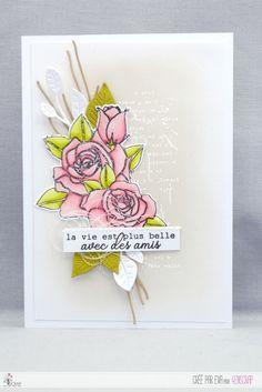 """Eva : #Tampons et #matrices de coupe #dies #4enSCRAP """"#Roses"""" #fleurs#scrapbooking #DIY #loisirscréatifs #carte #carterie Mini Albums, Nature Rose, Tampons Transparents, Love Cards, Cardmaking, Scrapbooking Diy, Snail Mail, Card Ideas, Roses"""