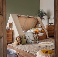 Our Kid's bedroom range has arrived! Your little ones will fall in love with every piece, including the safari-themed Hideout bed with… The Effective Pictures We Offer You About Montessori books A qua Safari Bedroom, Baby Bedroom, Baby Boy Rooms, Kids Bedroom, Boys Jungle Bedroom, Safari Kids Rooms, Jungle Baby Room, Tent Bedroom, Camping Bedroom